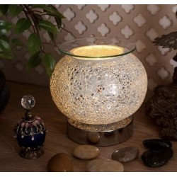 Silver Mosaic Oval Electric...